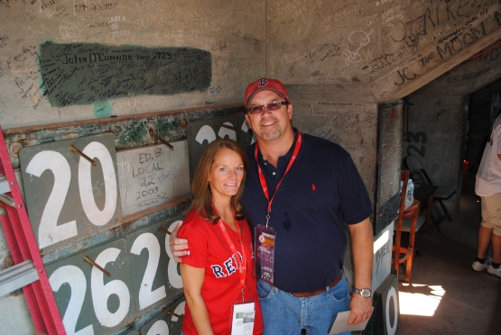 Inside the Green Monster!